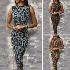 Womens Sexy Floral Bodycon Evening Party Cocktail Club Bandage Short Midi Dress