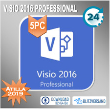 MS Visio/Project 2016 Professional, Pro, 1/2/3/4/5 PC, 32&64 Bit, per E-Mail
