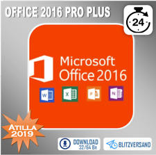 Office 2016 Professional Plus -Pro Plus - 1/2/3/4/5 PC 32&64 Bits - per E-Mail