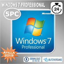 MS Windows 7 Professional - Win 7 Pro - 1/2/3/4/5 PC - OEM - Direkt per E-Mail