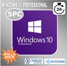 MS Windows 10 Professional - Win 10 Pro 1/2/3/4/5 PC - OEM - Direkt per E-Mail