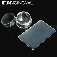 DIY Nail Art Stamping Clear Silicone Jelly Stamper Scraper Manicure Tools