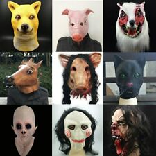 Halloween Scary Mask Novelty Pig Head Horror With Hair Animal Masks Cosplay