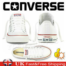 Lo Top Mens Womens Unisex All Star White Chuck Taylor Trainers Sports Shoes UK