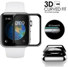 3D Full Cover Tempered Glass Screen Protector for Apple Watch iWatch 38mm ~ 44mm