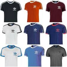 Adidas Originals Mens t shirt California Retro Raglan Crew Neck Short Sleeve New