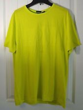 NWT MENS HUGO BOSS GREEN LIME GREEN SHORT SLEEVE CREW NECK TEE T SHIRT SZ LARGE