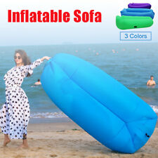 Inflatable Air Sofa Bag Lounger Camping Beach Bed Sleeping Hiking Outdoor Indoor