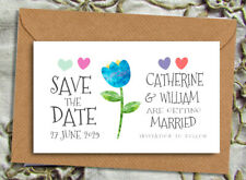 Save the Date Magnets - Personalised Modern Flower Design With Envelopes