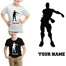 PERSONALISED BOYS GIRLS FLOSS DANCER FORT PS4 GAME XBOX T SHIRT-4