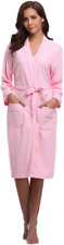 Aibrou Unisex Waffle Dressing Gown Cotton Lightweight Bath Robe for Spa Hotel