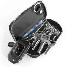 Key Holder Case Genuine Leather Wallet Car Keychain Bag Zip Pouch with Card Slot