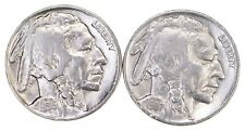 5c Buffalo Nickels - Great Detail in Buffalo Horn - 1936 & 1937 - Sweet! m85