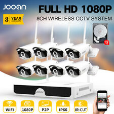 8CH Wireless 1080P HDMI NVR Outdoor IP WIFI IR Camera CCTV Home Security System