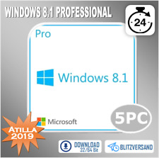 MS Windows 8.1 Professional - Win 8.1 Pro 1/2/3/4/5 PC - ESD - Direkt per E-Mail