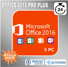 MS Office 2016 Professional Plus▸ 1-5PC ▸ 32&64 Bits ▸ 2 min. Key per Mail ▸ ESD