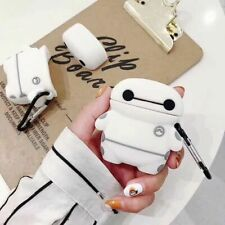 Baymax Robot Wireless Bluetooth Earphone Case charging box For Apple Airpods