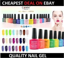 Nail Gel Polish set CANNI Soak off UV LED Colour Glitter Base Top Coat Varnish