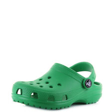 Kids Crocs Classic Grass Green Boys Girls Mule Clogs Sandals UK Size