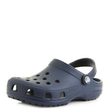 Kids Crocs Classic Navy Blue Boys Girls Mule Clogs Sandals Size