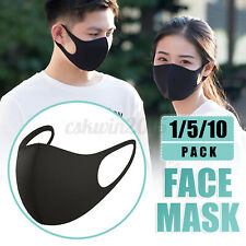 1/5/10X Face Mouth 2-layer Cotton Filter Anti-dust Reusable& Washable