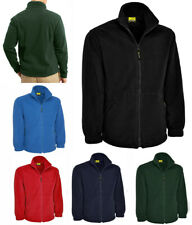 Mens Full Zip Classic Fleece Jackets Size XS to 5XL SPORTS WORK CASUAL - 604