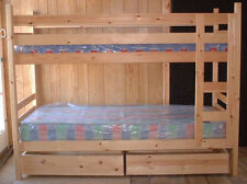 "Narrow  Pine bunk Beds 76cm  (2'6"") mattress size Can be made in shorter lengths"