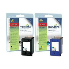 2 Remanufactured HP21XL / 22XL Ink Cartridges for Deskjet F2180 Printer & more