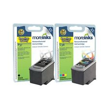 2 Premium Remanufactured Canon PG-37 / CL-38 Ink Cartridges for Canon Printers