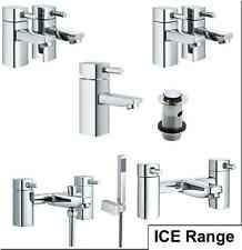 Multi Ice Listing Chrome Bathroom Bath Basin Bidet Shower Mixers Hot & Cold Taps