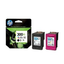 2 Genuine HP 300XL Ink Cartridges CC641EE/CC644EE for Printers inc F2476 & more