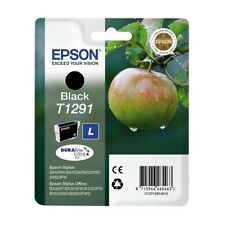 Genuine Epson T1291 Black Ink Cartridge for Stylus Printers C13T12914010 Apple