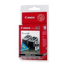 2 Genuine Canon PG-40 / CL-41 Ink Cartridges 0615B036 for Pixma Printers