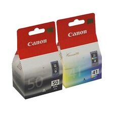2 Genuine Canon PG-50 / CL-41 Ink Cartridges 0616B001/0617B001 for Printers
