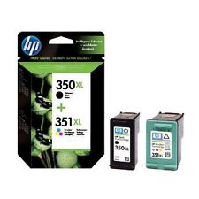 2 Genuine HP 350XL / 351XL Printer Ink Cartridges for Photosmart C5580 & more