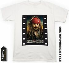 T-Shirt Film Pirati dei Caraibi Johnny Depp maglietta Cinema cult movie Pirates