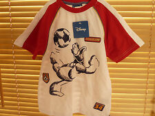DISNEY DONALD DUCK BOYS FOOTBALL CLUB SHIRT AND MATCHING SHORTS BNWT AGE 4-8 YRS