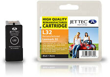 Remanufactured Jettec L32 Black Ink Cartridge for Lexmark Printers