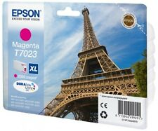 Genuine Epson T7023 / C13T70234010 Magenta XL Printer Ink Cartridge Eiffel Tower