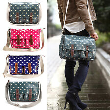 Sac a Epaule Bandouliere Cartable Scolaire Besace Hobo a Pois pr Fille Ecoliere