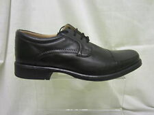 Mens, Clarks, Black Leather Oxford Style Lace Up Shoe, Hoist cap