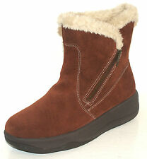 WOMEN'S SKECHERS CHALET CHIT CHAT FUR LINED SUEDE ZIP UP BOOTS Black or Brown