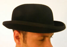 New Mens 100% Wool Felt Quality Black Bowler Derby Hat Formal Events