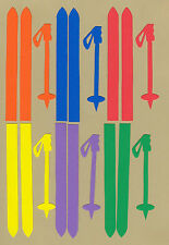 Your choice of colors on Stick Kids Skis & Poles Die Cuts - Dayco/AccuCut