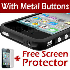 NEW STYLISH BUMPER SERIES CASE COVER FOR APPLE IPHONE 4 4S & SCREEN PROTECTOR