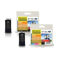 2 Jettec Remanufactured No.34 / 35 Ink Cartridges for Lexmark X5410 & more