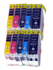 10 Canon PGI-5BK CLI-8 Black/ Cyan/ Magenta/ Yellow Printer Ink Cartridges