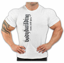 BODYBUILDING T-SHIRT WORKOUT  GYM CLOTHING ASH GREY J-101