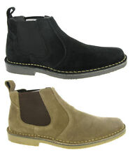 Mens Desert Ankle Suede Leather Pull On  Chelsea Dealer Boots / Shoes UK 6-12
