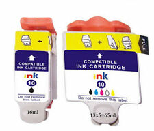2 Kodak 10 Printer Ink Cartridges Black/ Colour
